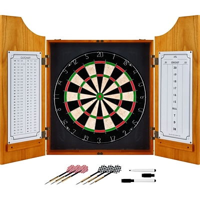 Trademark Pro Style Solid Wood Dart Cabinet Set