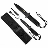 Trademark Whetstone™ Survivor Fire Starter Survival Knife Set