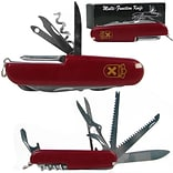 Trademark Whetstone™ 3 1/2 13 Function Swiss Type Army Knife, Red