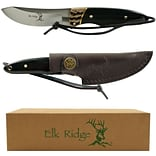 Trademark 7 1/4 Elk Ridge Stainless Steel Hunting Knife With Sheath; Black
