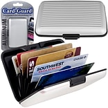 Trademark Home Aluminum Credit Card Wallet With RFID Blocking Case; Silver