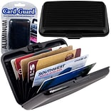 Trademark Home Aluminum Credit Card Wallet With RFID Blocking Case; Black