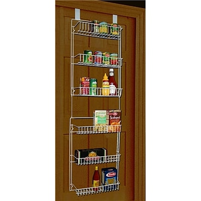 Trademark 5 Overdoor Storage Basket Rack