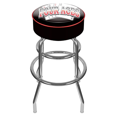 Trademark 30 Padded Swivel Bar Stool, Four Aces (Made in USA)