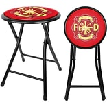 Fire Fighter 18 Cushioned Folding Stool