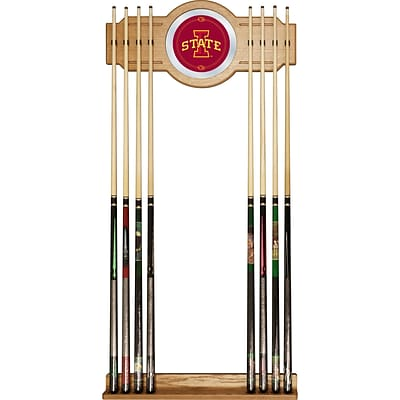 Trademark 30 x 13 Billiard Cue Rack With Mirror, Iowa State University