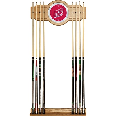 Trademark 30 x 13 Billiard Cue Rack With Mirror, University of Dayton