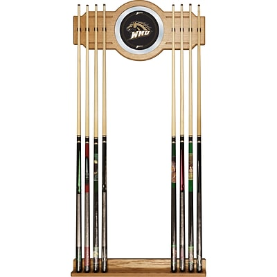 Trademark 30 x 13 Billiard Cue Rack With Mirror, Western Michigan University