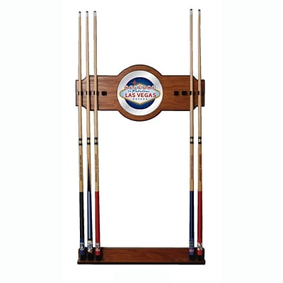 Trademark 30 x 13 Billiard Cue Rack With Mirror, Las Vegas