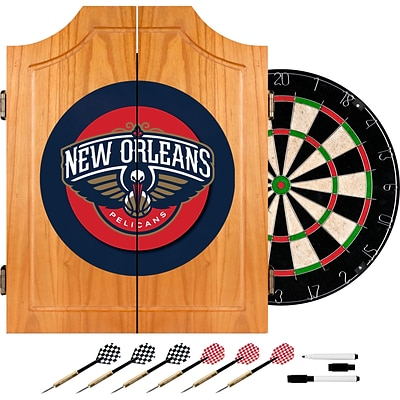 Trademark Wood Dart Cabinet Set, New Orleans Pelicans