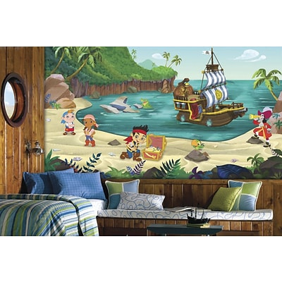 RoomMates Jake and the Never Land Pirates Chair Rail Prepasted XL Wallpaper Mural