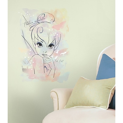 RoomMates I Believe in Fairies Tink Watercolor Graphic Peel and Stick Giant Wall Decal