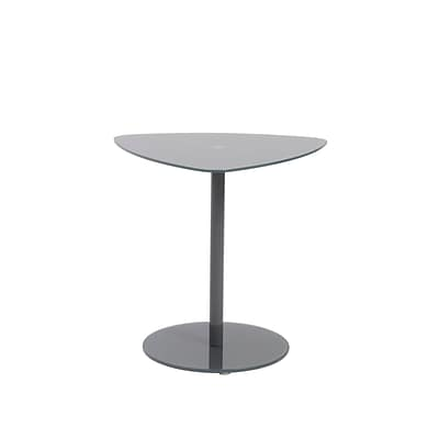 Euro Style™ Sarafina 20 1/2 x 23 x 22 Glass 3 Piece Side Table Set, Gray