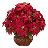 Poinsettia in Planter Floral Arrange; Red