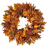 4648 28 Pumpkin Wreath; Orange