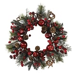 4677 22 Apple Berry Wreath; Red