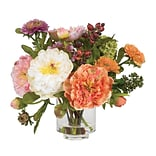 4689 Peony Silk Floral Arrangements; Orange