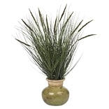 Grass Desk Top Plant in Decorative Vase