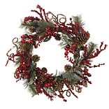 4838 24 Assorted Berry Wreath; Red