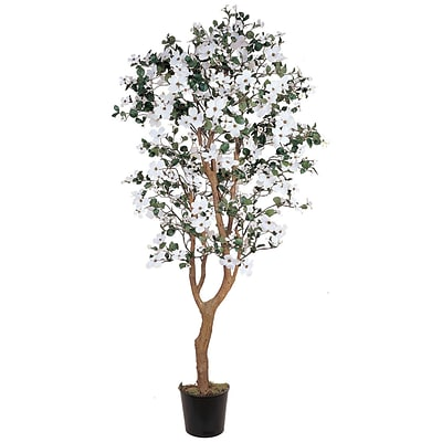 Nearly Natural 5019 5 Dogwood Silk Tree in Pot