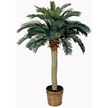 4 Sago Silk Palm Tree in Decorative Vase