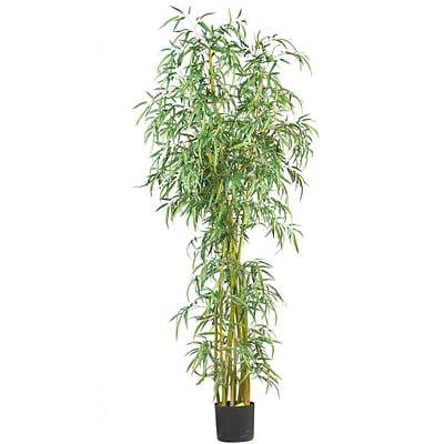 Nearly Natural 5194 7 Curved Slim Bamboo Tree in Pot