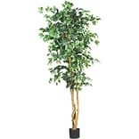 Nearly Natural 5209 6 Ficus Silk Tree in Pot