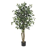 Nearly Natural 5299 4 Ficus Tree in Pot