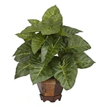 6669 Taro Desk Top Plant in Decorative Vase