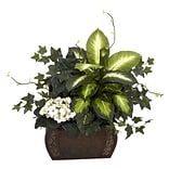 African Violet and Ivy Desk Plant in Vase