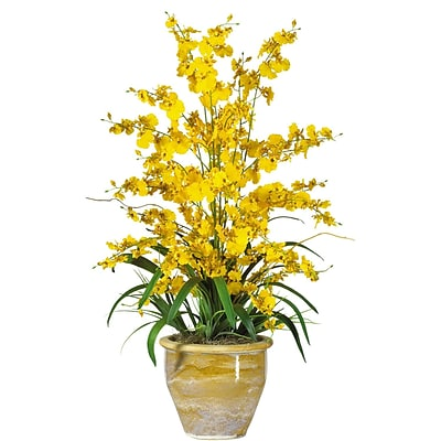 Nearly Natural 1070-YL Triple Dancing Lady Floral Arrangements, Yellow