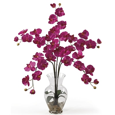 Nearly Natural 1106-BU Phalaenopsis Silk Floral Arrangements, Beauty pink