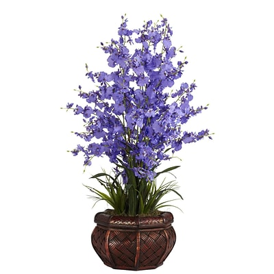 Nearly Natural 1207-PP Dancing Lady Floral Arrangements, Purple