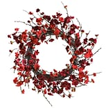 4813 24 Plum Blossom Wreath; Red