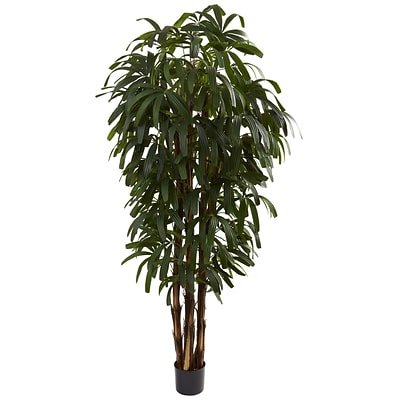 Nearly Natural 5404 6 Raphis Palm Tree in Pot