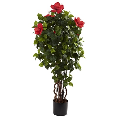 Nearly Natural 5410 4 Hibiscus Tree in Pot