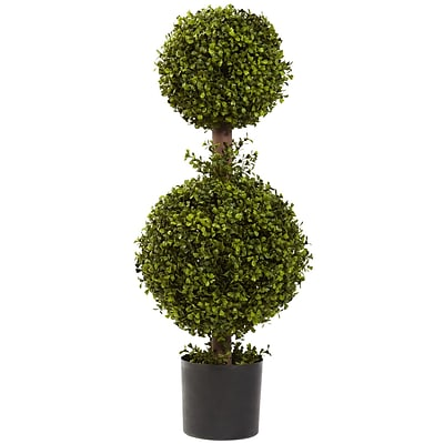 Nearly Natural 5920 35 Double Boxwood Topiary Plant in Pot