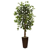 Nearly Natural 5924 Ficus Tree in Planter