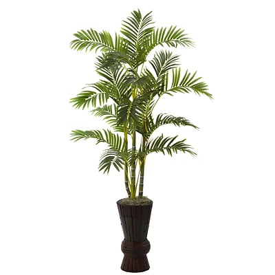 Nearly Natural 5927 62 Areca Tree in Planter