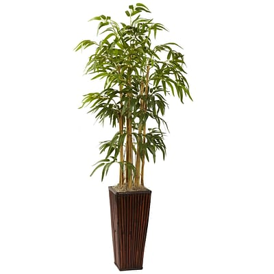 Nearly Natural 6737 4 Bamboo Plant in Planter