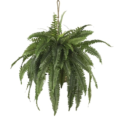 Nearly Natural 6774 Large Boston Fern Hanging Plant in Basket