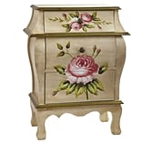 7012 Antique Floral Art Night Stand