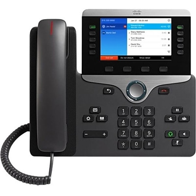 Cisco™ 8841 5 Lines Wall Mountable IP Phone; Black