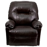 Bentley Brown Leather Chaise Power Recliner