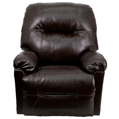 Flash Furniture Contemporary Bentley Leather Chaise Power Recliner; Brown