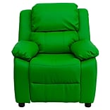 Green Deluxe Vinyl Kids Recliner W/SRG Arms