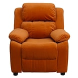 Orange Deluxe MCFB Kids Recliner W/SRG Arms