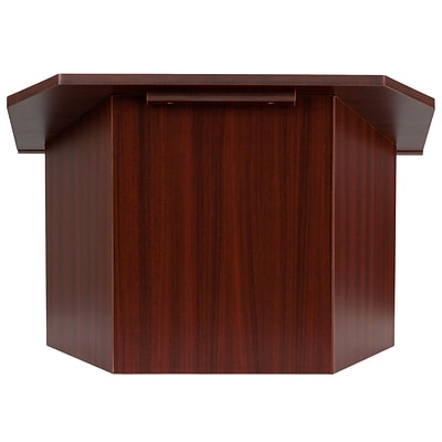 Flash Furniture 19 x 27 x 16 1/4 Foldable Tabletop Lectern, Mahogany