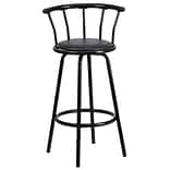 Black 30 Vinyl Bar Stool W/ Crown Back