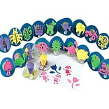 S&S AS613 Multicolor Squishers Foam Stamps, 2.25 x 2.75, 20/Pack